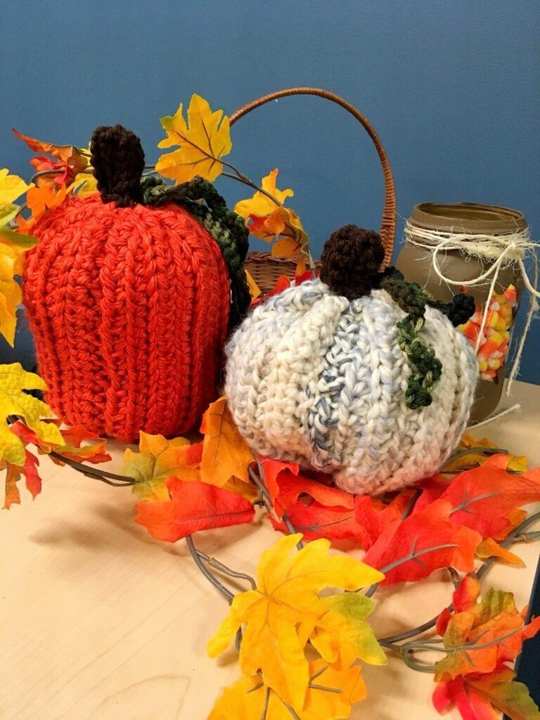 Crochet Pumpkin and White Gourd