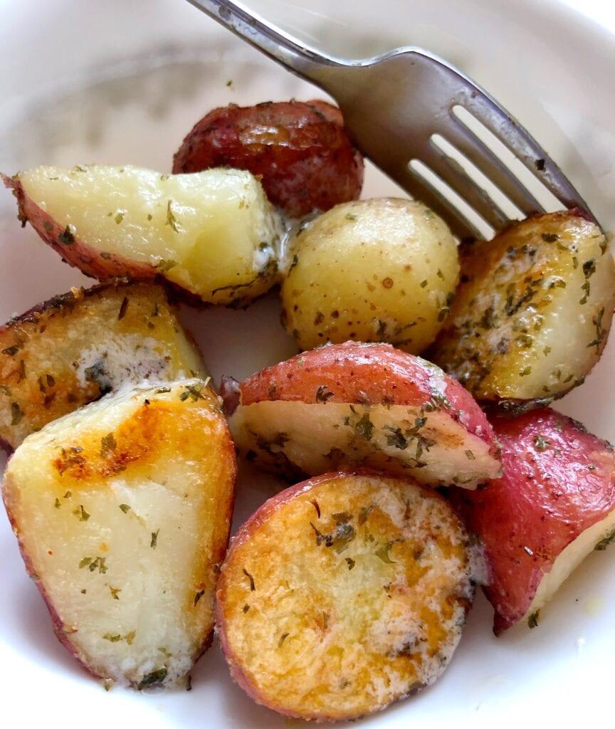 Roasted Potatoes Served
