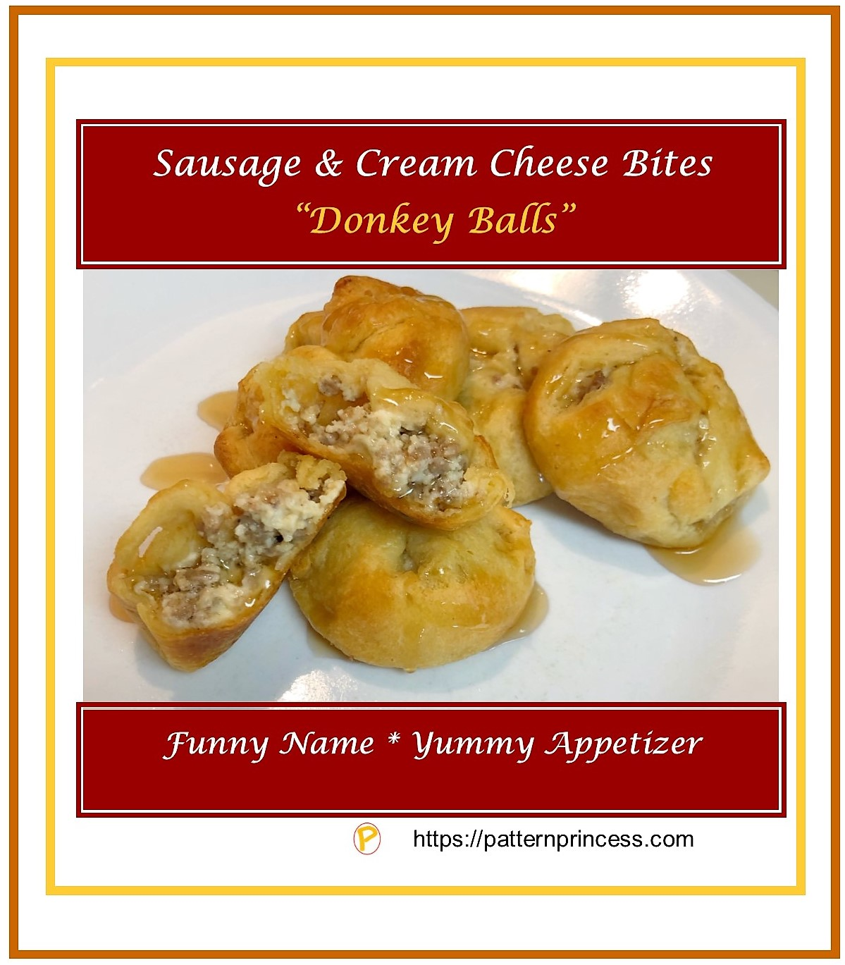 Sausage and Cream Cheese Bites - Donkey Balls 1