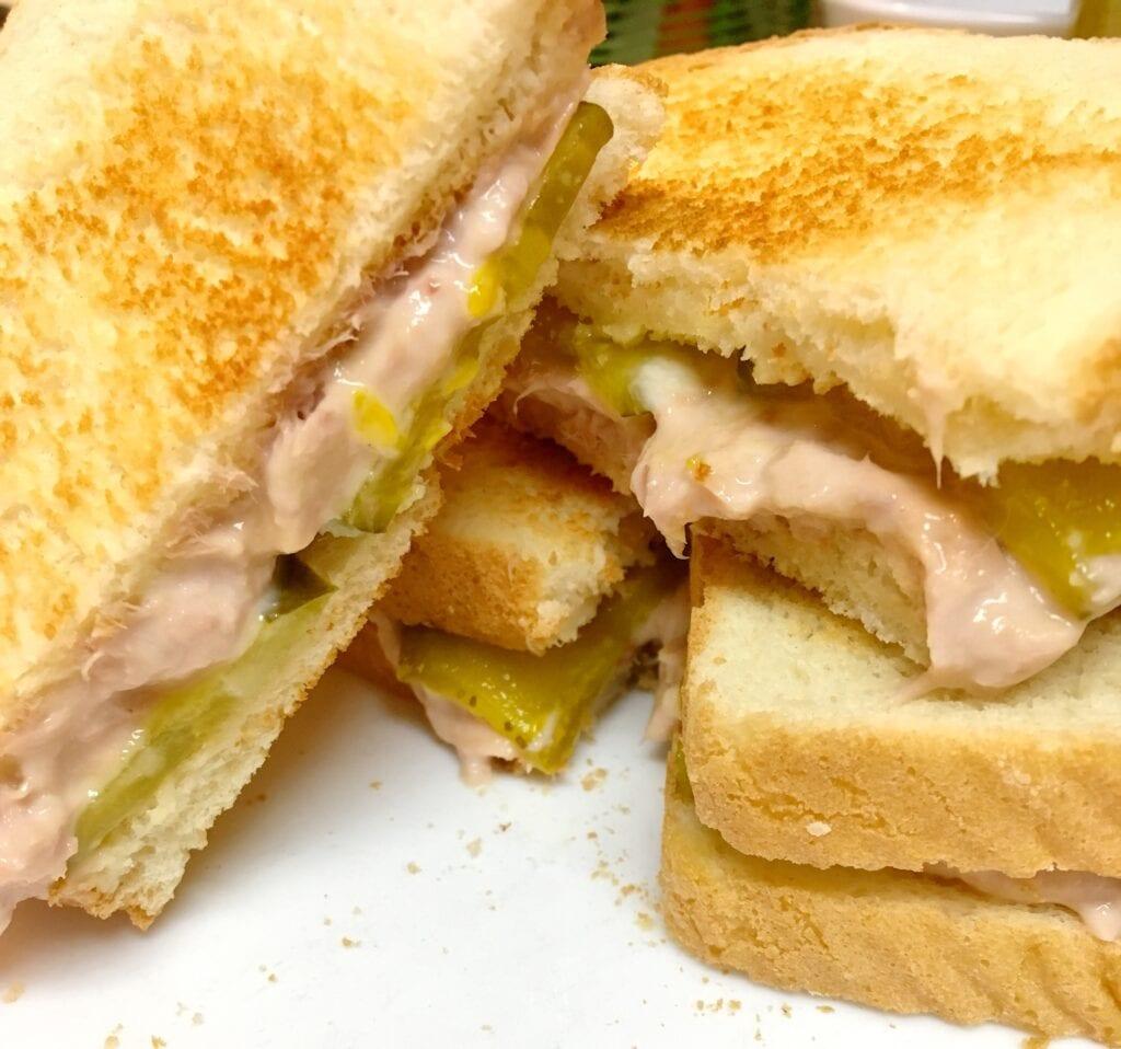 Tuna on Toast Sandwich