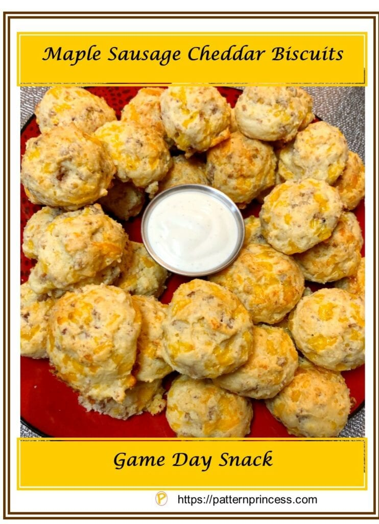 Maple Sausage Cheddar Biscuits 1