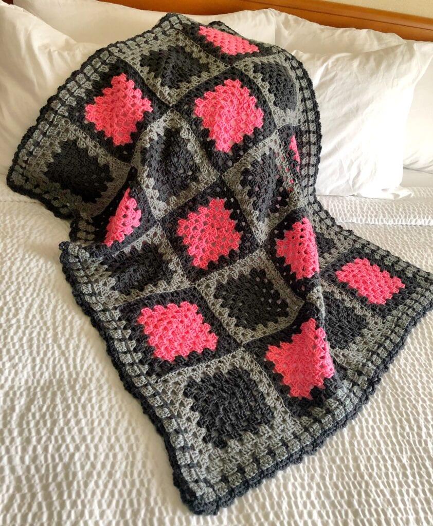 Simple Loop Granny Square Crochet Borde