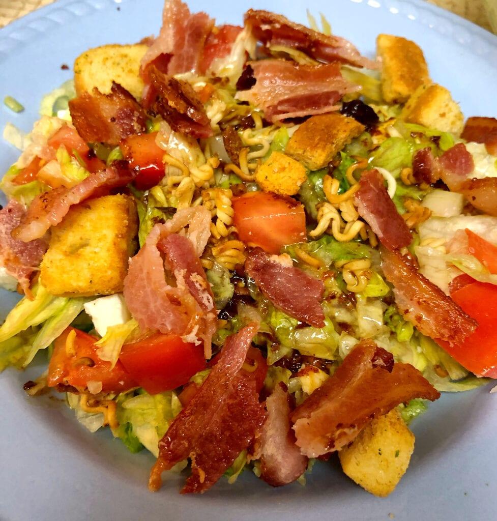 Garden Salad with Warm Bacon Salad Dressing