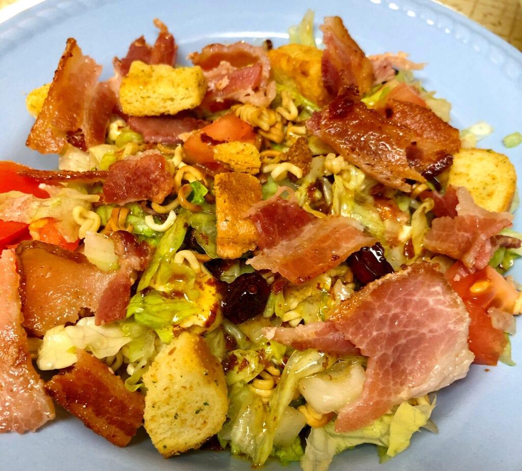 Garden Salad with Bacon