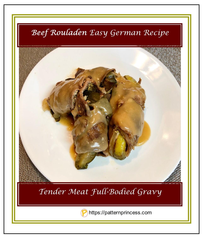 Beef Rouladen Easy German Recipe