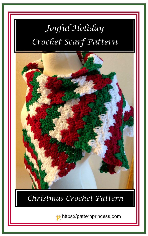 Joyful Holiday Crochet Scarf Pattern