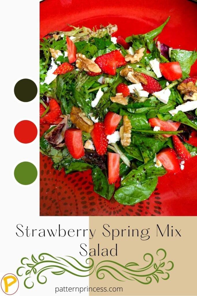 Strawberry Spring Mix Salad