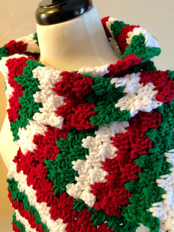 Close up of Granny Spike Stitch