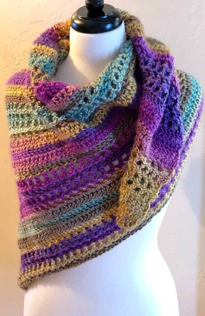 Saturday Scarf Styled over Shoulders