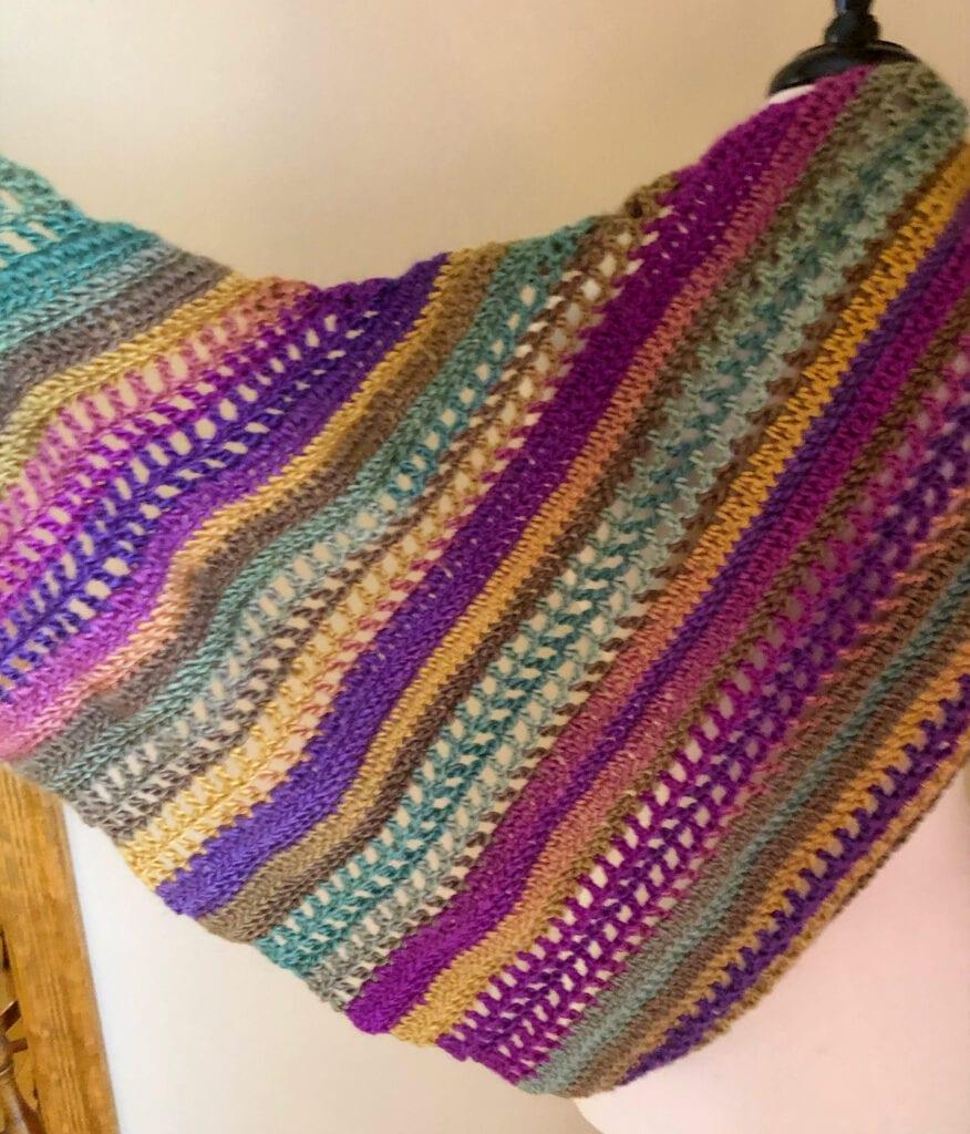 Stunning Colorful Crochet Shawl Pattern