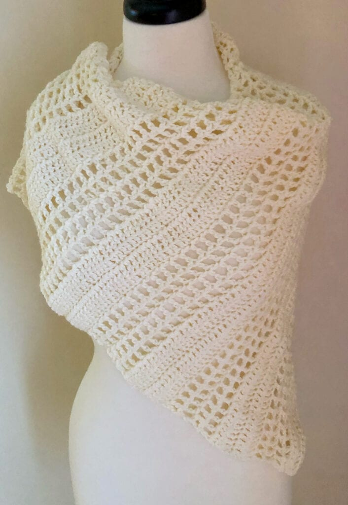 Crochet Asymmetrical Scarf
