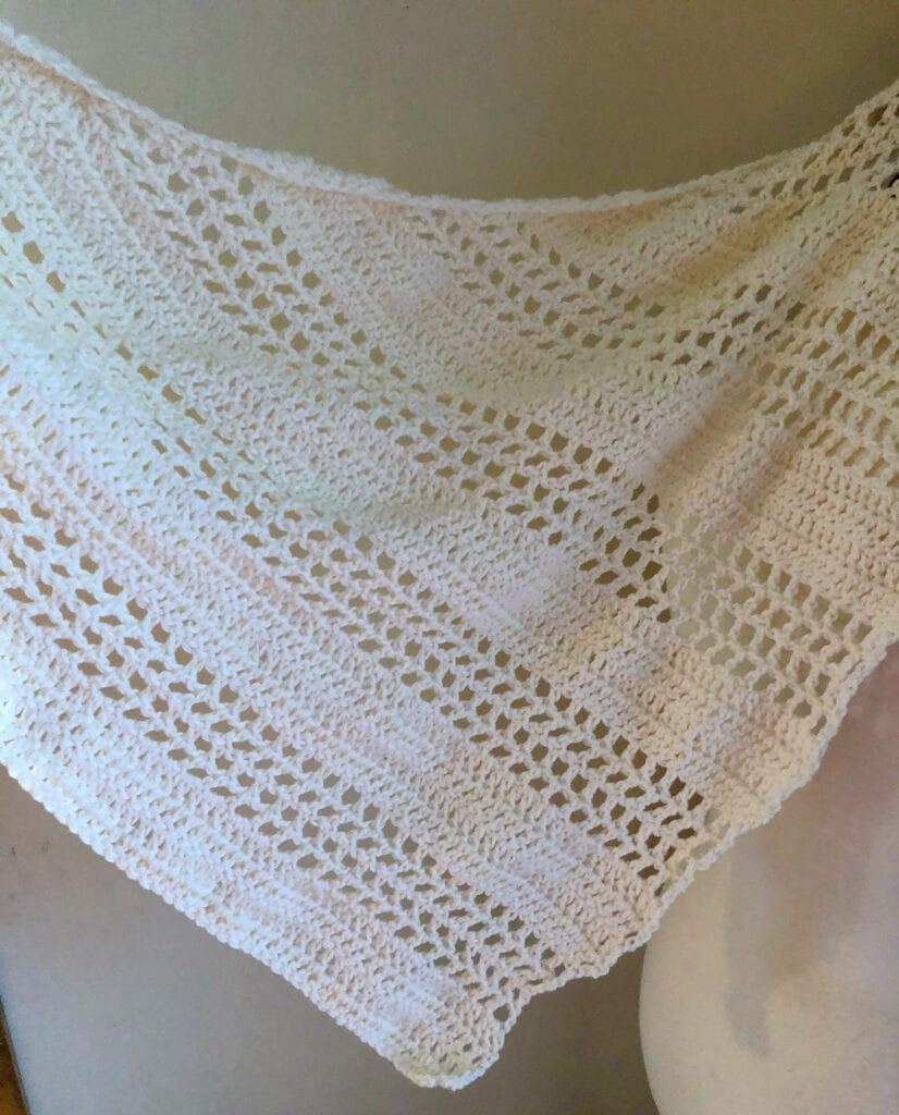 Showing Crochet Stitches in Shawl