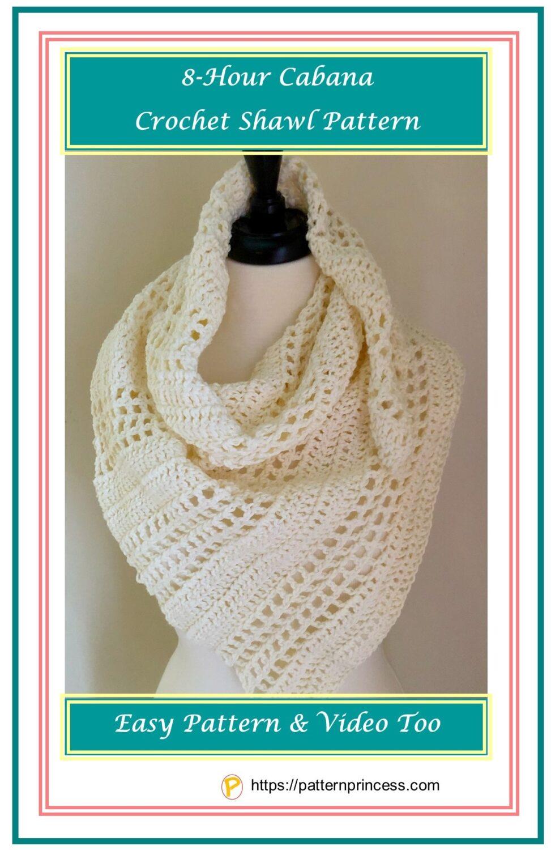 8-Hour Cabana Crochet Shawl Pattern