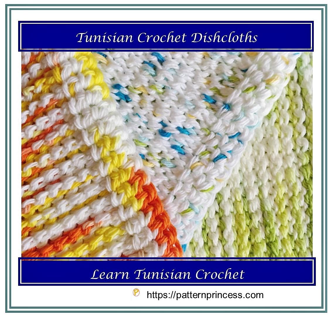 Tunisian Crochet Dishcloths