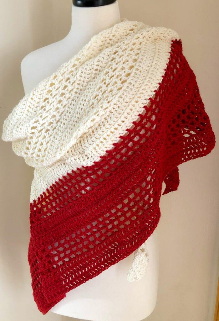 Crochet Off the Shoulder Wrap