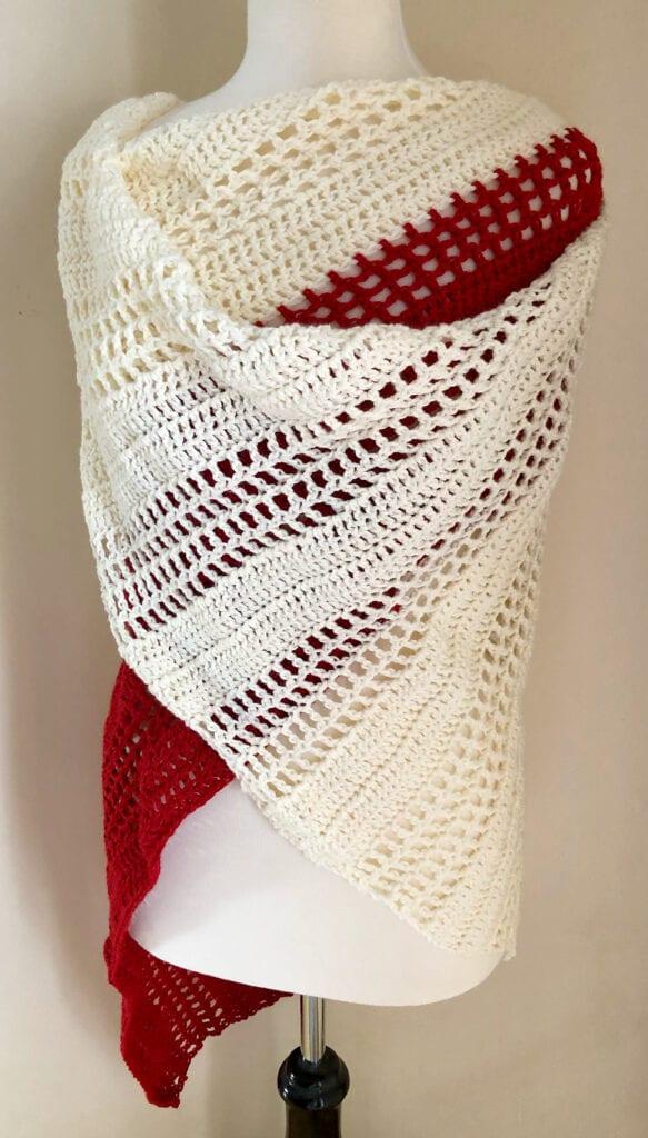 Easy Crochet Lacy Shawl
