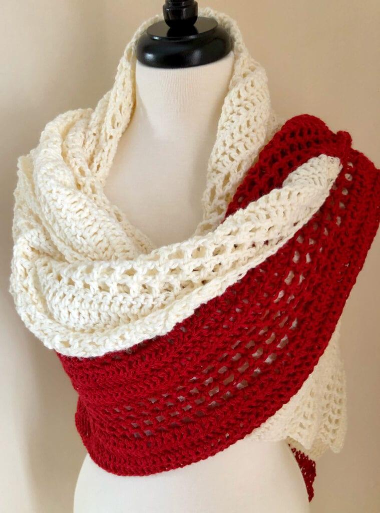 Valentine Crochet Shawl