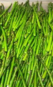 Roasting Asparagus in a Sheet Pan