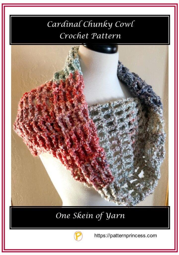 Cardinal Chunky Cowl Crochet Pattern