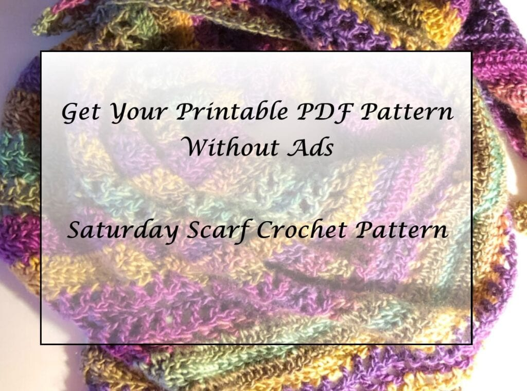 Saturday Scarf Crochet Pattern Printable