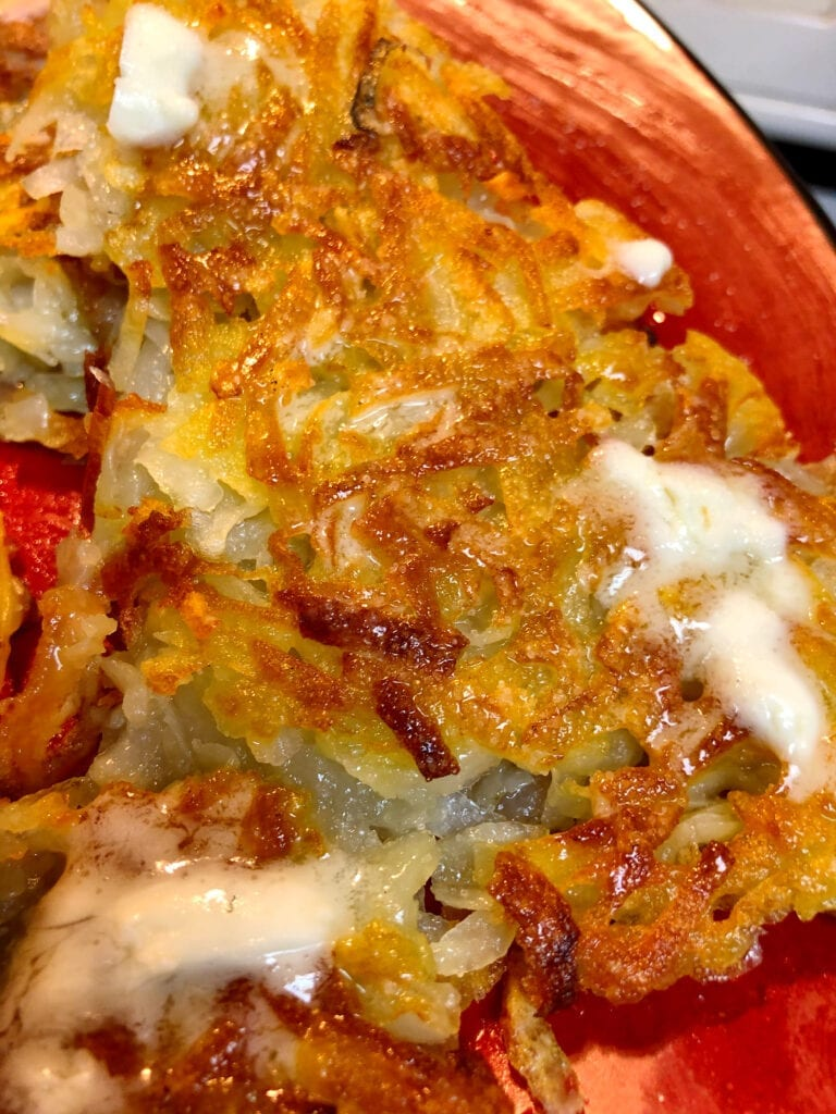 Crispy Hash Browns with Butter and Salt