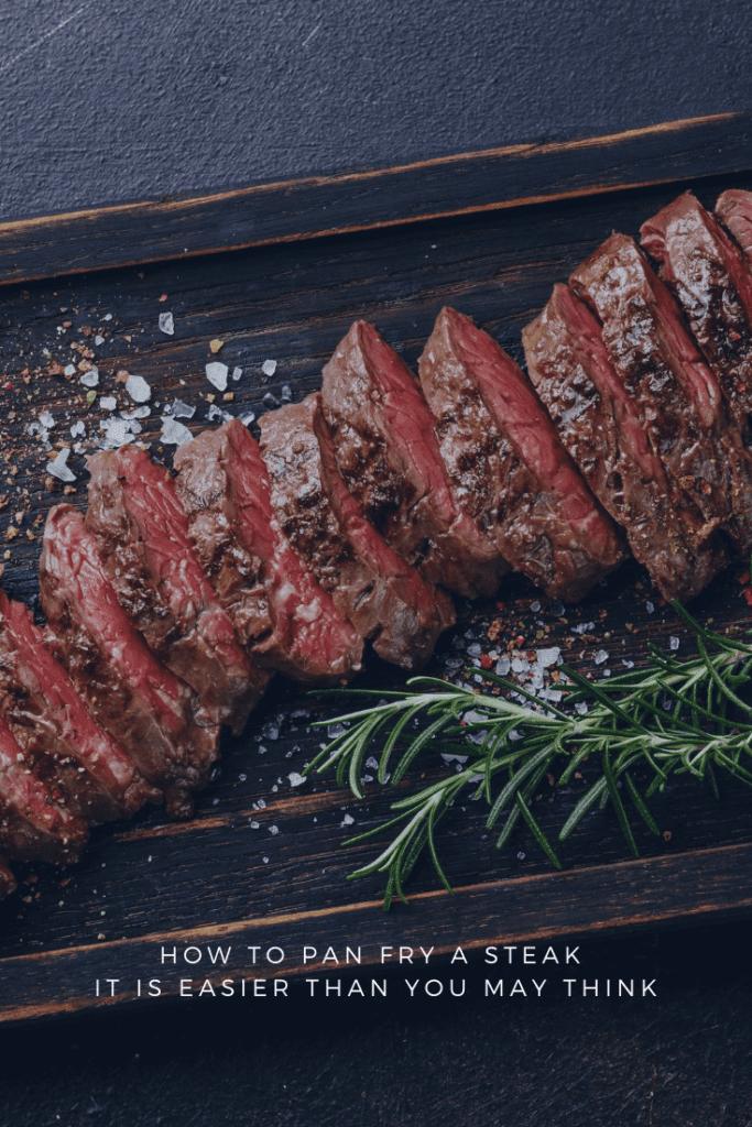 Sliced Pan Fried Steak