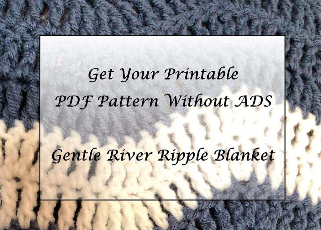 Gentle River Ripple Blanket Printable Pattern