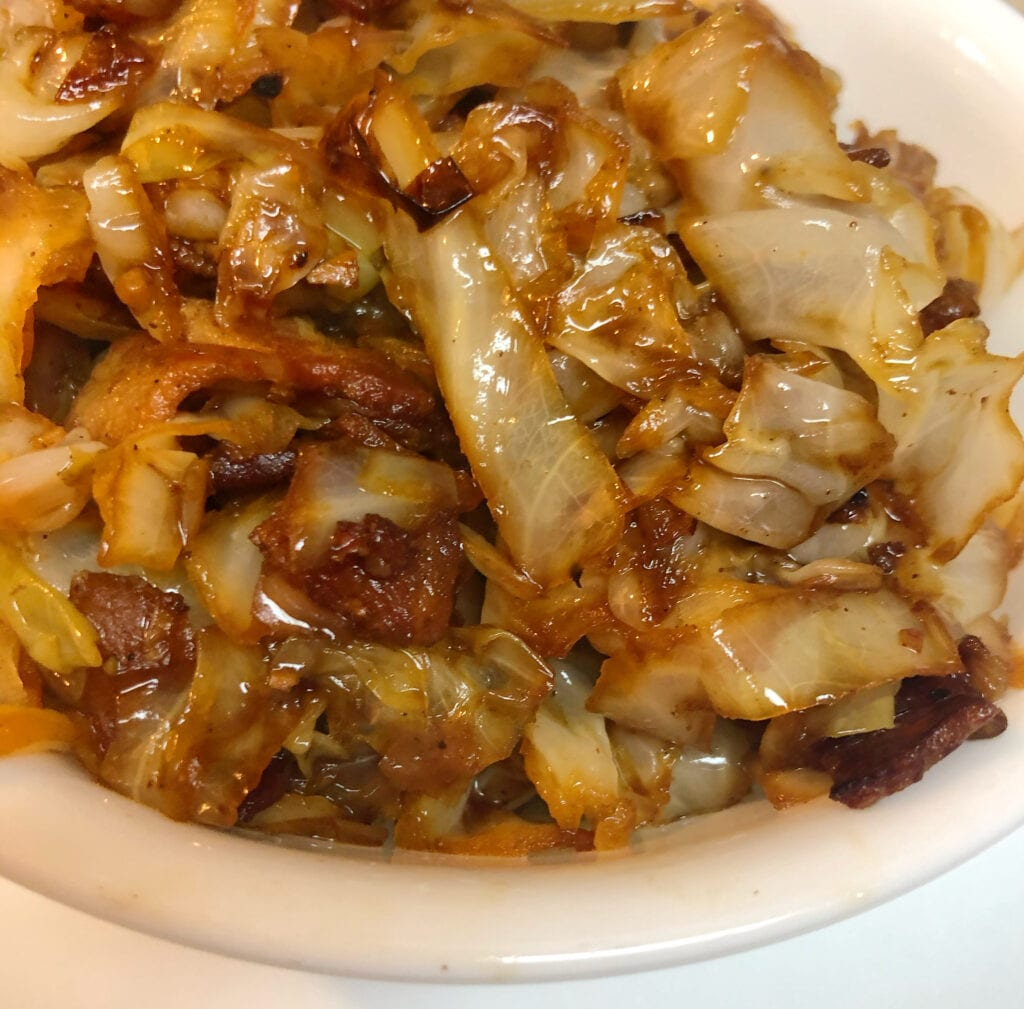 Bowl of Fried Cabbage