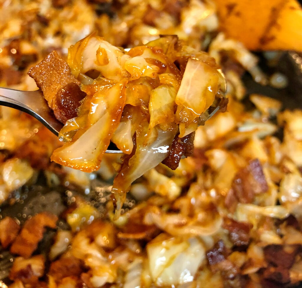 Testing the Delicious Southern Fried Cabbage from the Pan