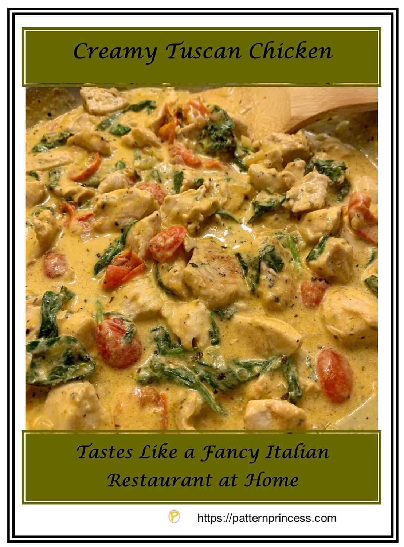 Creamy Tuscan Chicken Recipe