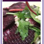Roasted Beet Salad with Beet Greens and Feta