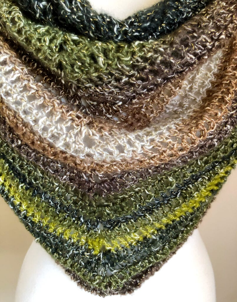 Close up of Lacy Shawl Stitches