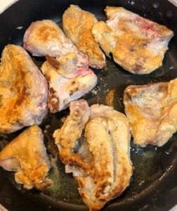 Turning Chicken in Skillet