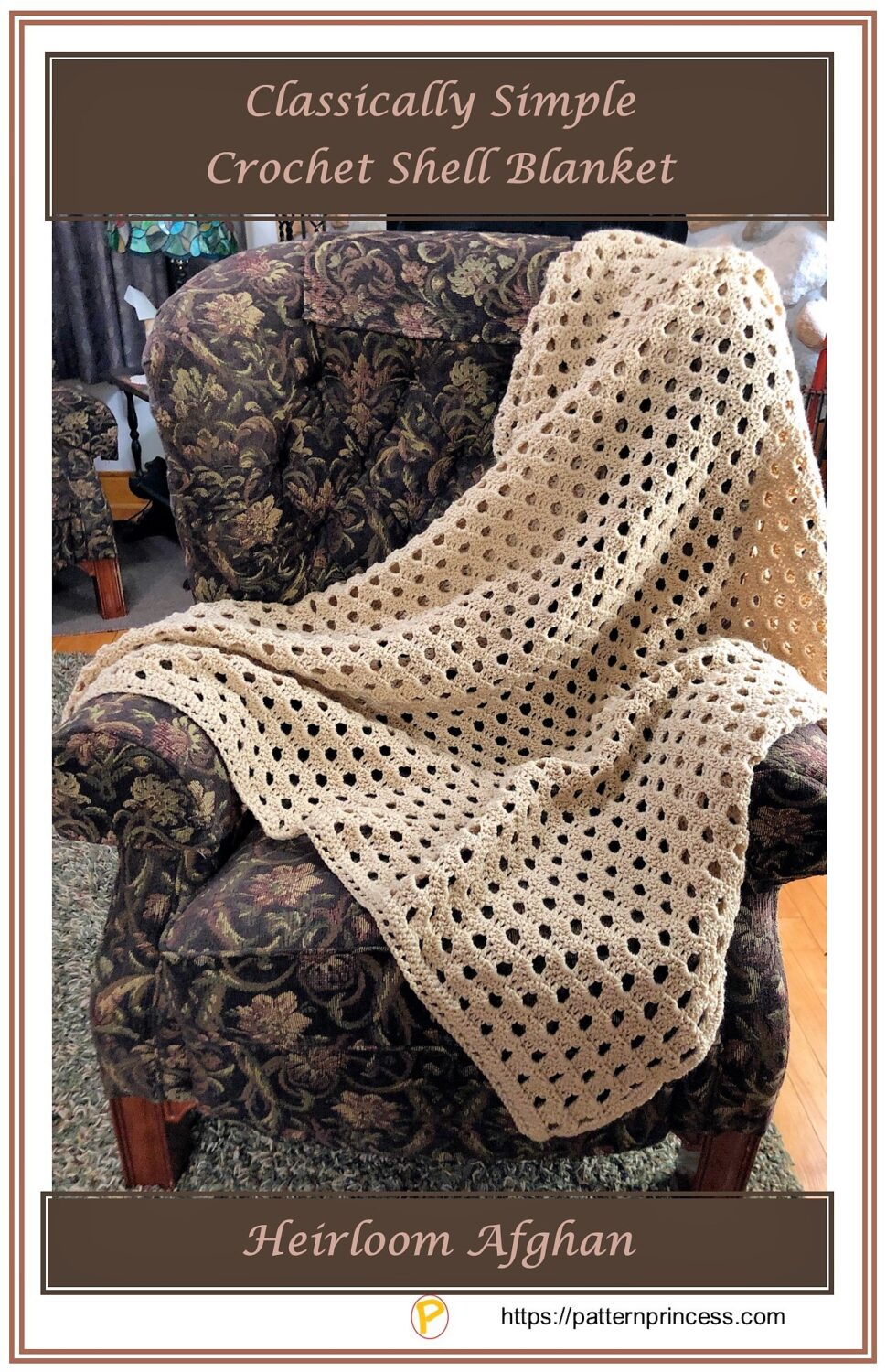 Classically Simple Crochet Shell Blanket