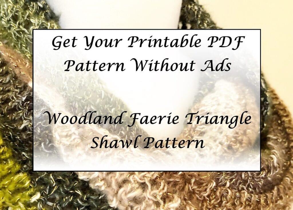 Woodland Faerie Triangle Shawl Pattern Printable