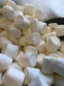 Coating Marshmallows with Melted Butter