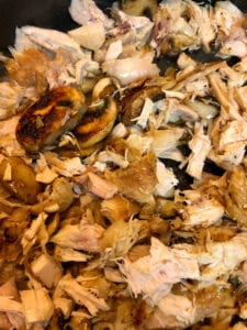Adding Chicken and Garlic to the Mushrooms and Onions in the Skillet