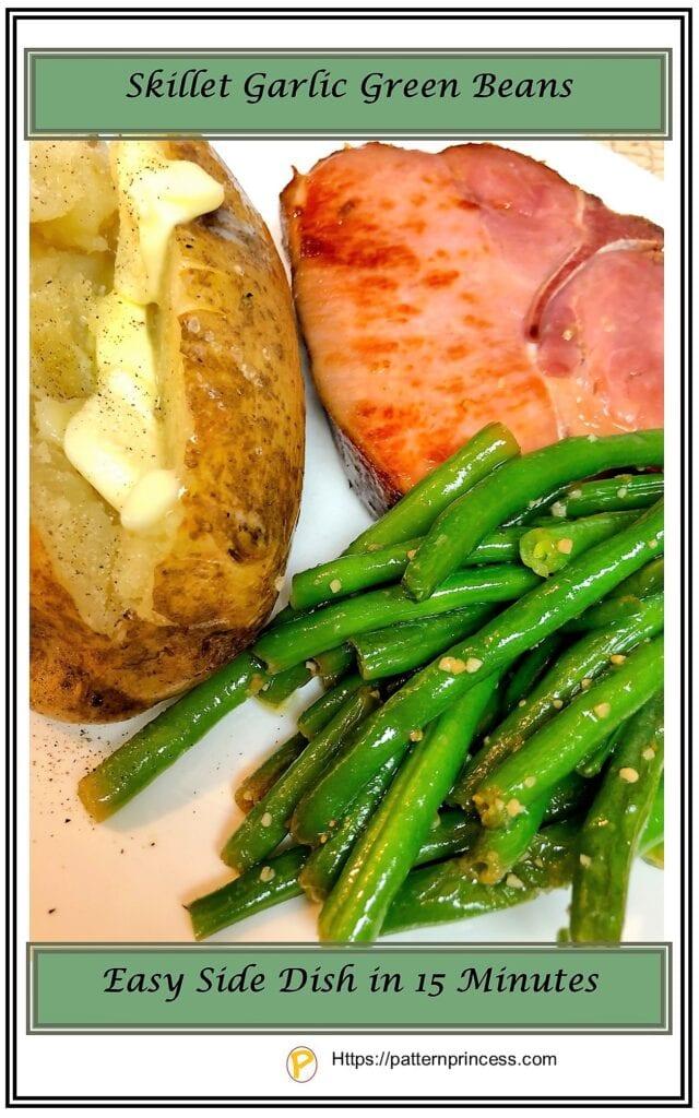 Skillet Garlic Green Beans Recipe