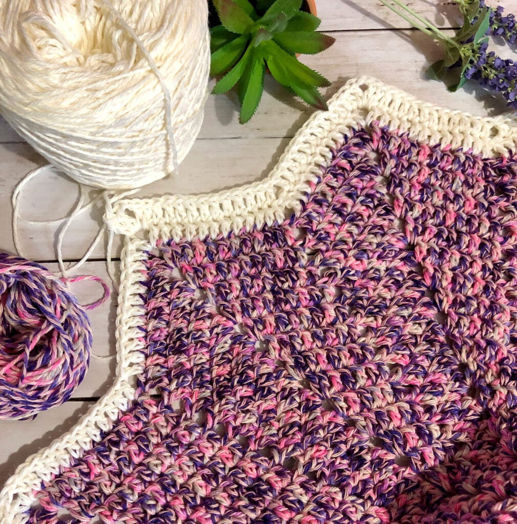 Changing Yarn Color in Crochet 12-Point Star Blanket