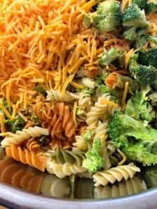 Broccoli Cheddar Pasta Salad Ingredients