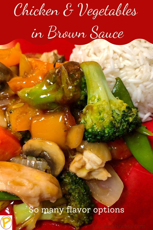 Chicken & Vegetables in Brown Sauce