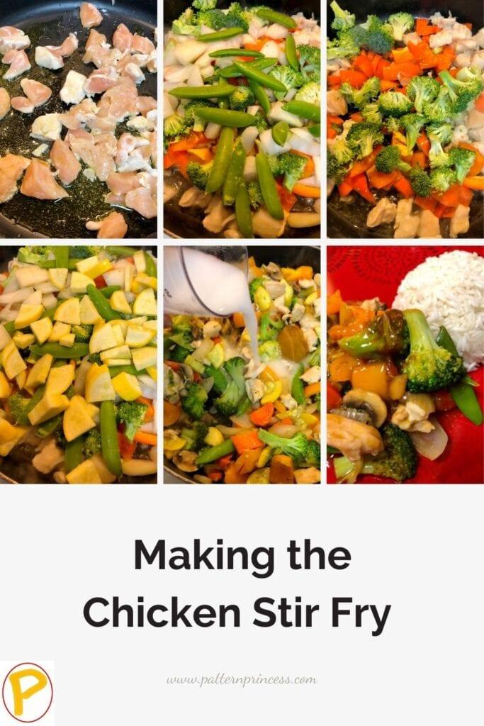 Steps in Making the Easy Chicken Stir Fry