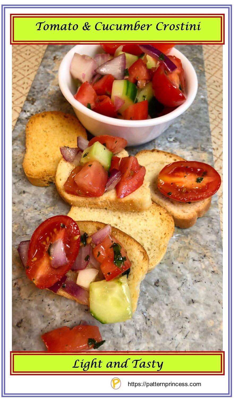 Tomato and Cucumber Crostini