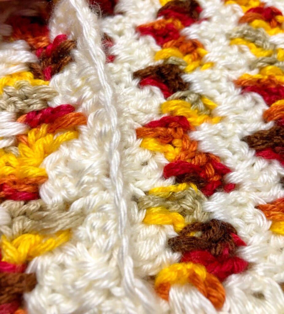 Crochet Border on the Bottom Fold