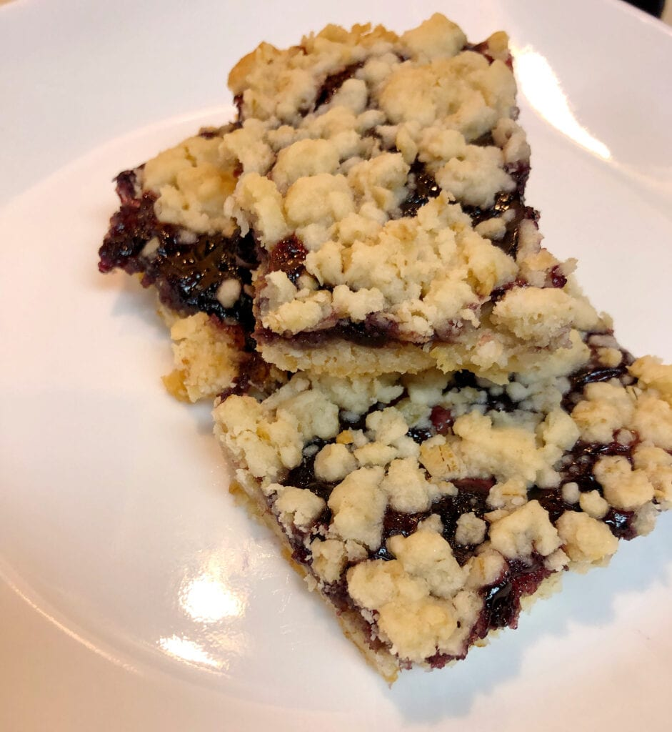 Easy Cake Mix Bars Served on a Dessert Plate