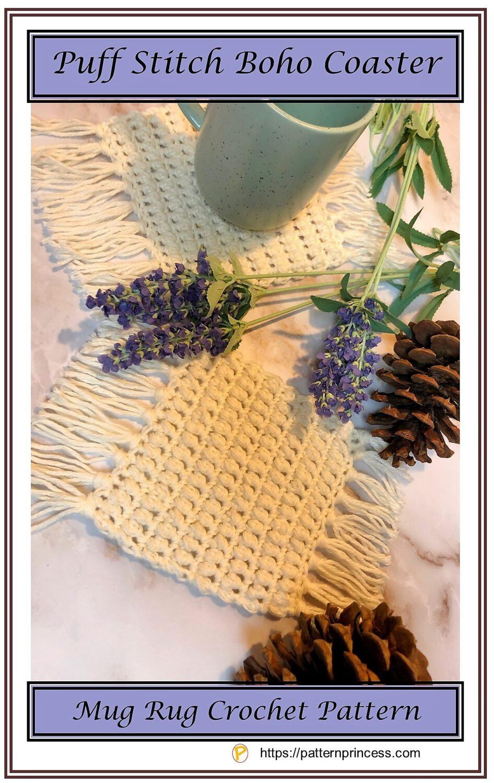Puff Stitch Boho Coaster