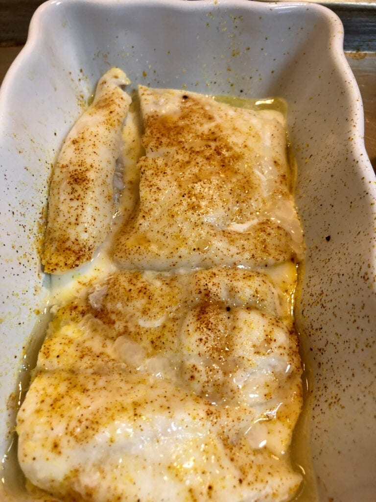 Baked Fish in Casserole Dish