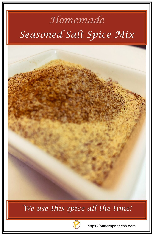 Homemade Seasoned Salt Spice Mix