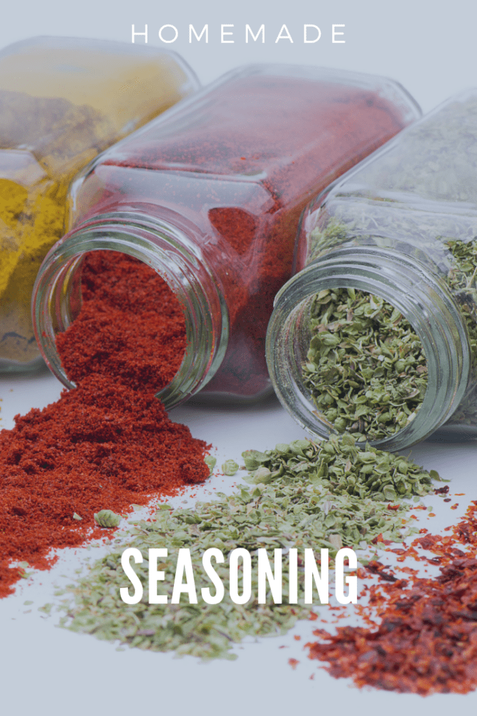 Homemade Seasoning Mixes in Jars Tipped Over