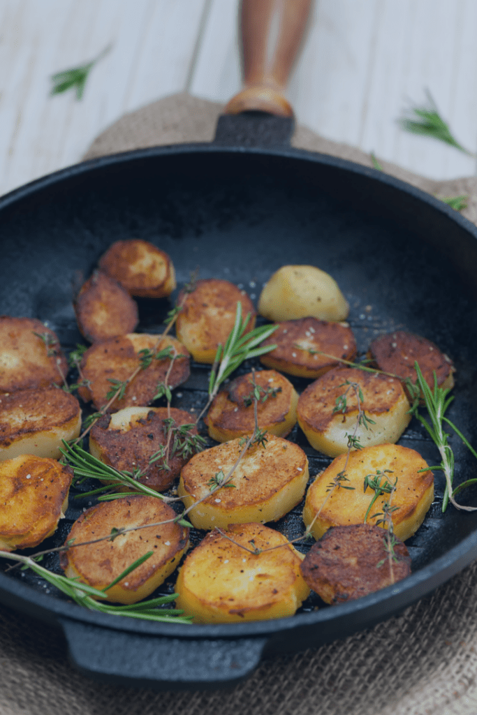 Pan Fried Potatoes with Seasoned Salt